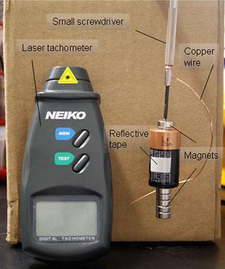 motor laser tachometer