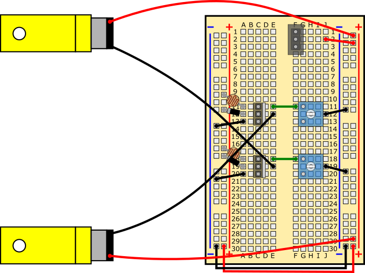 slideshow  20  light tracking robot circuit