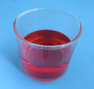 red-colored water