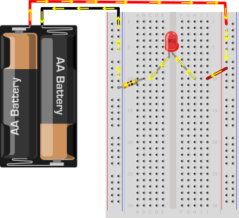 LED breadboard circuit 2