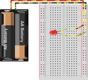 LED breadboard circuit 3