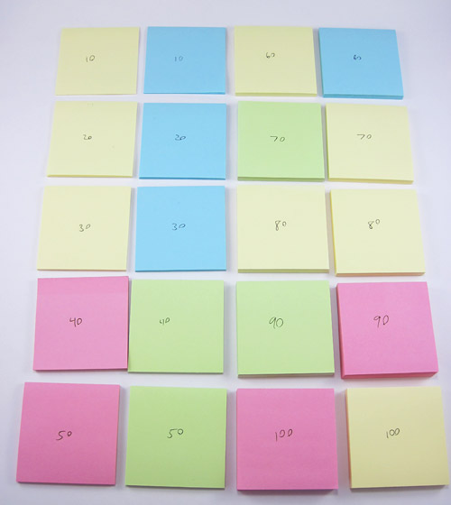 sticky note stacks