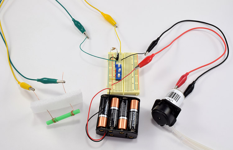 Complete insulin pump model circuit picture