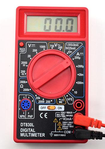 multimeter 200 microamp DC setting