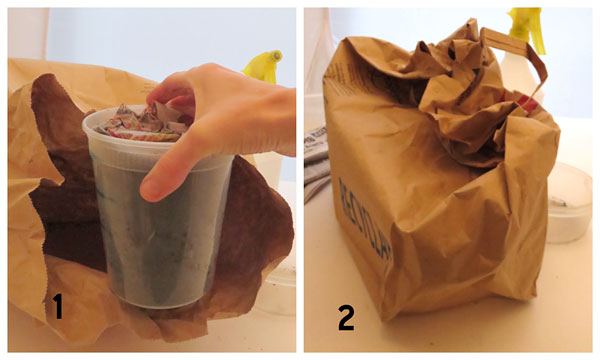 Keep your pots with worms in a dark environment, like inside a brown paper bag