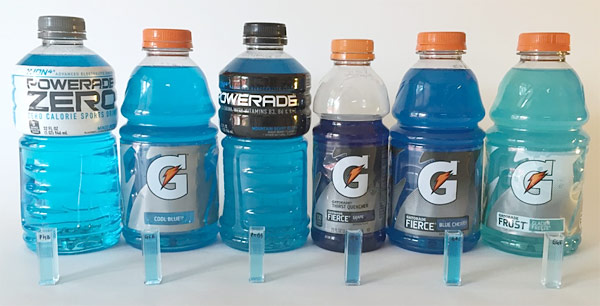 sports drinks cuvettes