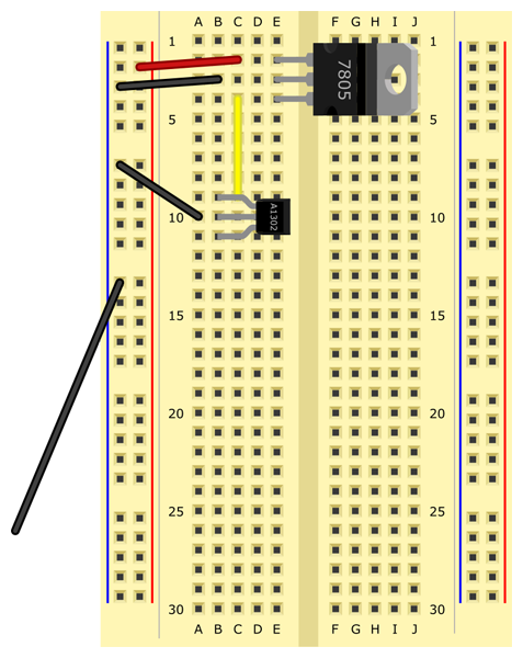 Arduino Voltmeter Prototype together with Hall Effect in addition Gaussmeter as well Arduino Uno Diagram further Measure Mag ic Fields. on gauss meter schematic