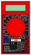DVM810 multimeter symbol