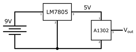 Gaussmeter circuit schematic