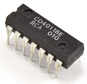 Photo of a 4011 NAND gate