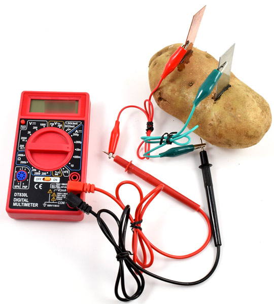 potato battery short circuit current