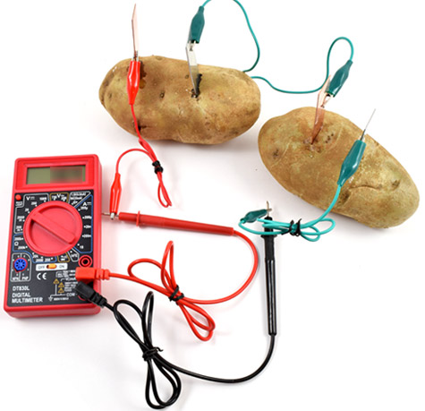 potato battery conclusion Conclusion my hypothesis was if the russet potato contains enough electrons, then the light bulb will light because the potato has the ability to generate.