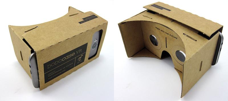 Google VR headset made of cardboard