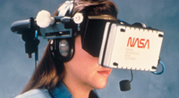 NASA employee using virtual reality training technology.