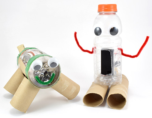 Robots made from recycles materials