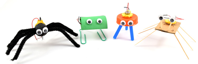 Examples of some different vibrobot designs