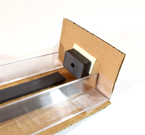 maglev train stopper with 2 magnets