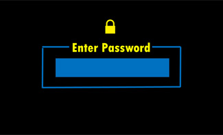 Prompt to user to enter password