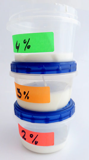 Store the hot ice cream solutions in closed containers.