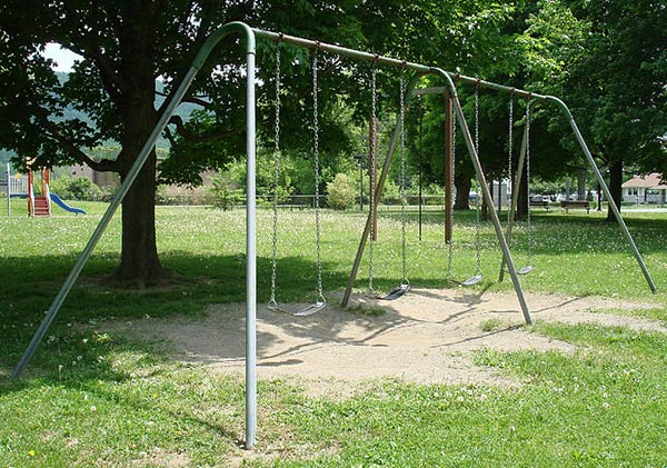 a playground swing is an example of a pendulum.