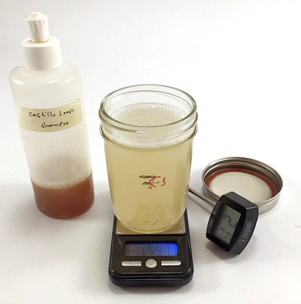 Prepared shampoo wash solution