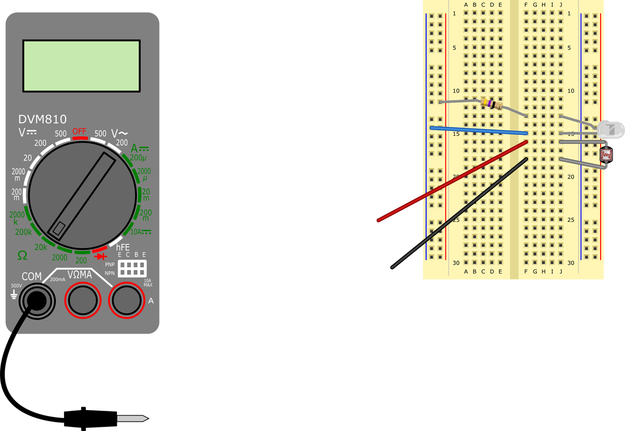 Multimeter probe