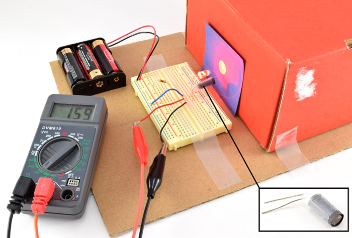 Experimental setup for color detection circuit