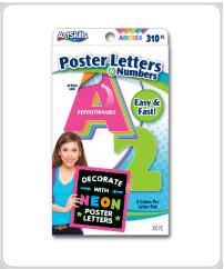 ArtSkills supplies neon letters