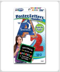 ArtSkills supplies sparkle letters