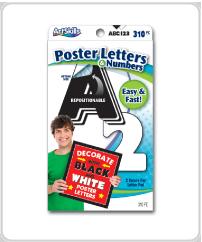 ArtSkills supplies black white letters