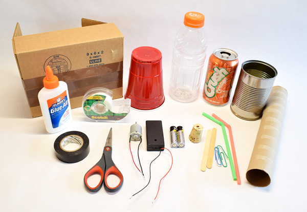 Materials for junkbot lesson plan