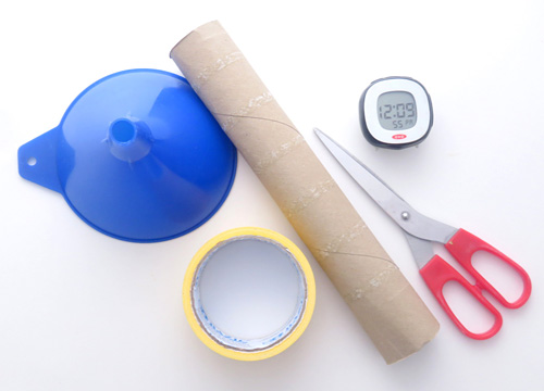 Few materials are needed to make a stethoscope