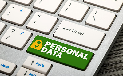 text personal data security