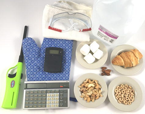 extra materials calorimeter contents
