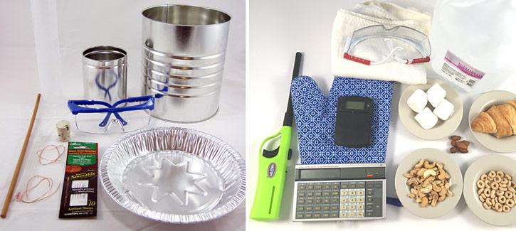 materials calorimeter contents