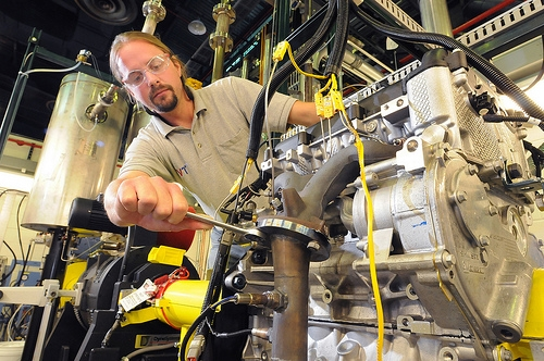 Argonne National Laboratory automotive engineers testing plug-in vehicle