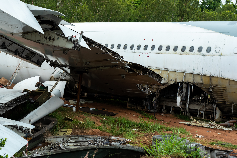 broken cargo airplane
