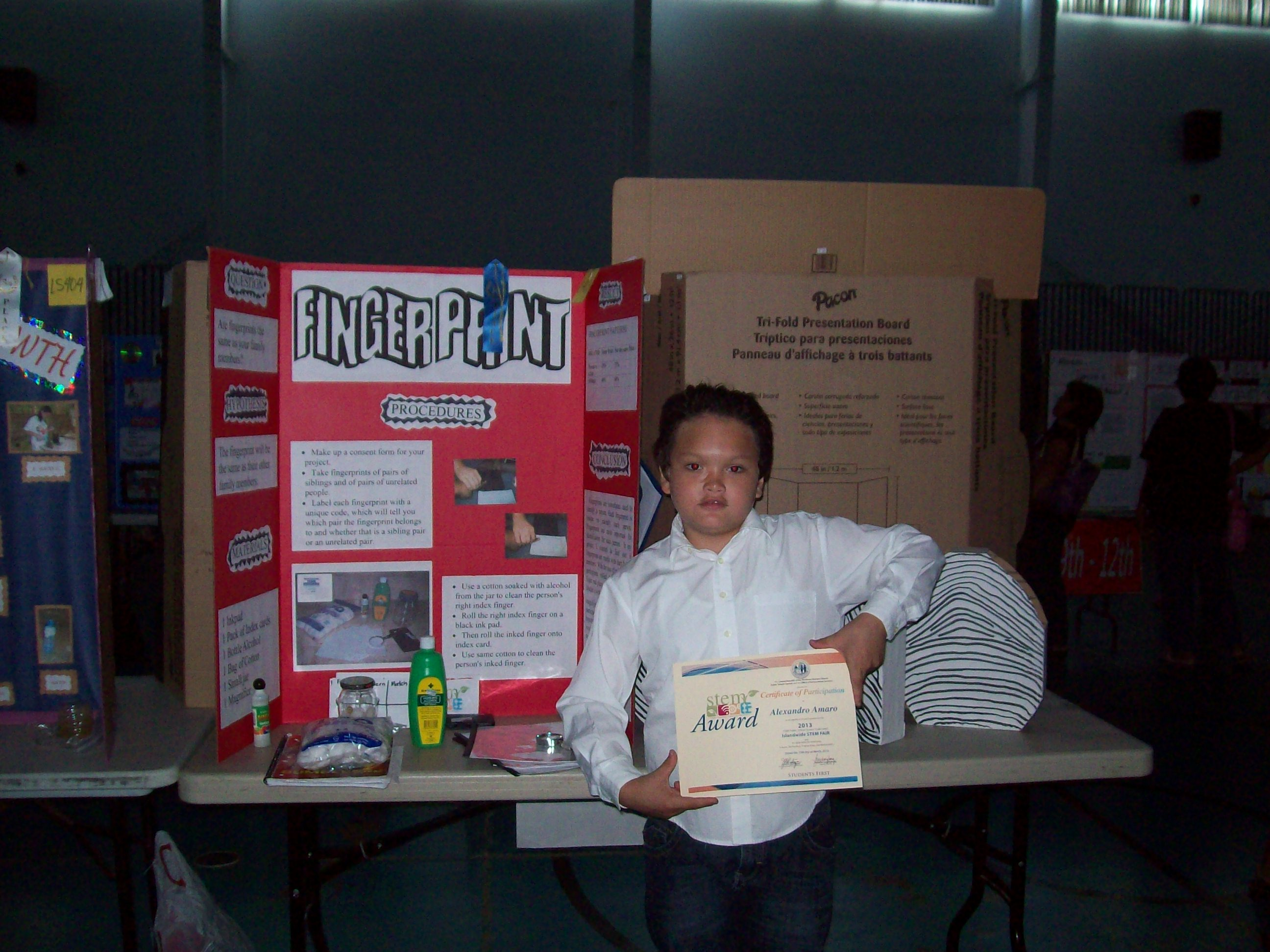 middle school science fair project research paper