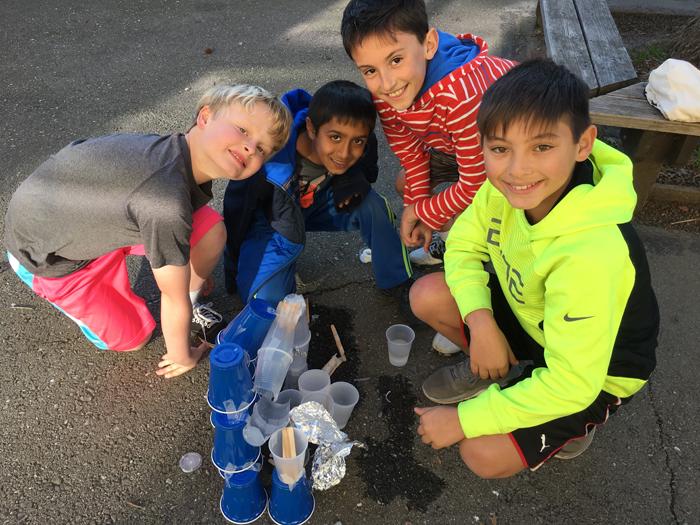 Students doing 2017 Fluor Engineering Challenge