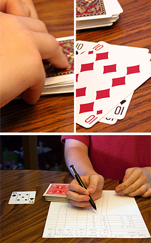 Family math probability card science
