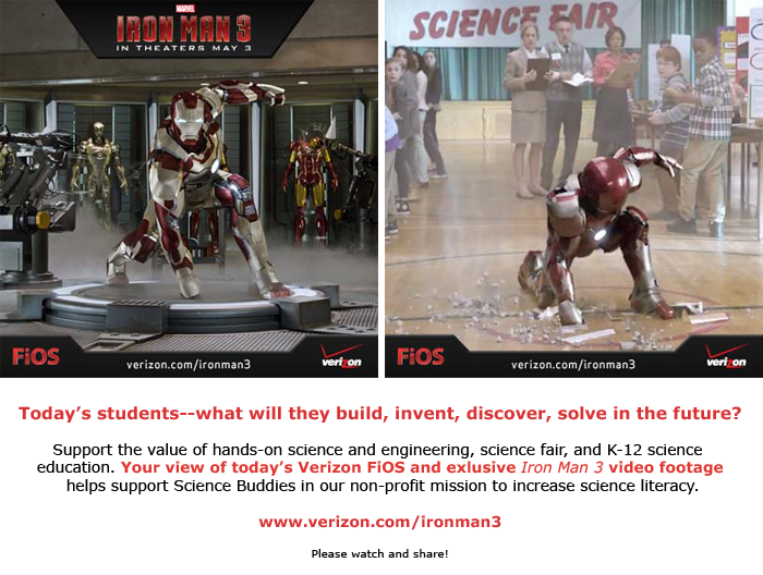 Iron Man Science / View to Give exclusive video content from Verizon FiOS
