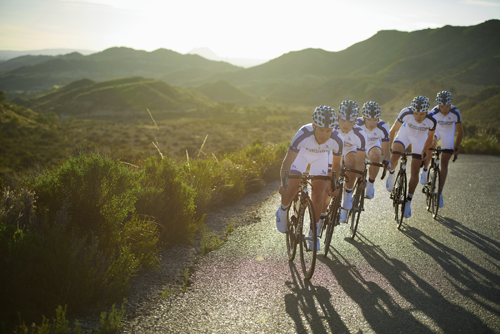 Team Novo Nordisk riders training for the Vuelta a Castilla y Leon in Spain