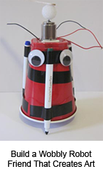 Girls STEM art bot robotics