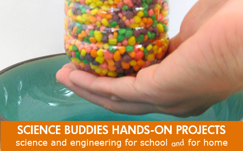 Weekly Science Activity Spotlight /  Candy Physics Waterfall Science Project for School or Family Science