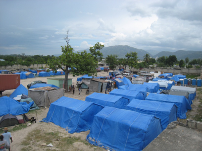 Paper Emergency Shelter for Haiti, 2010, Port-au-Prince, Haiti