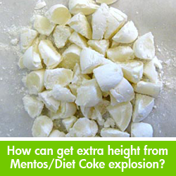 Mentos and Diet Coke Explosion science project