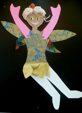 Paper Doll Lisa from paper dolls materials science project