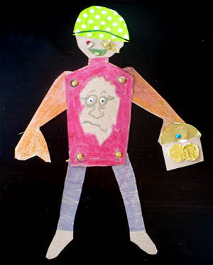 Paper Doll Vincent from paper dolls materials science project