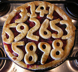 Pi Pie by Kat M - great tribute to Pi day with number-topped pie