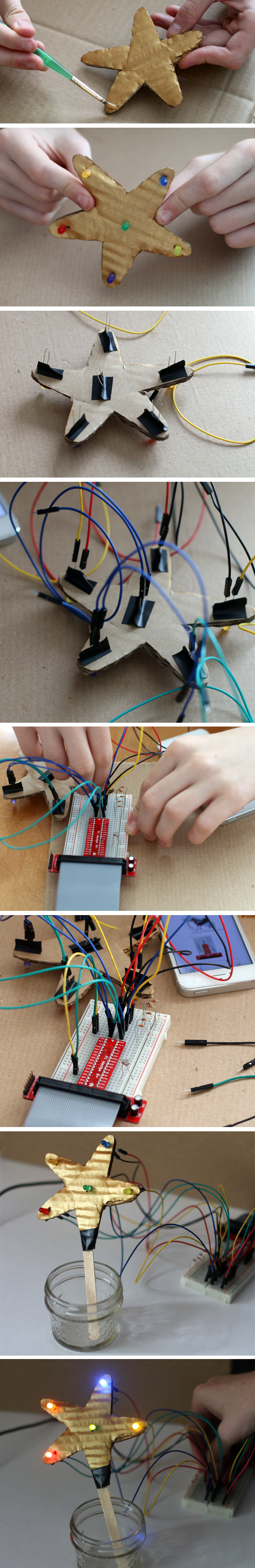 We got in the holiday spirit with Scratch and Raspberry Pi to light up a simple light-activated star!